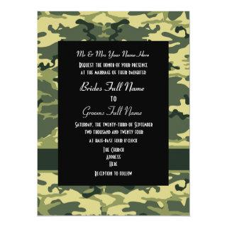 Army, hunting or military wedding Invitations