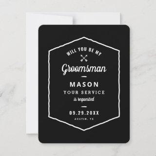 Arrows Groomsman Proposal Enclosure Save The Date