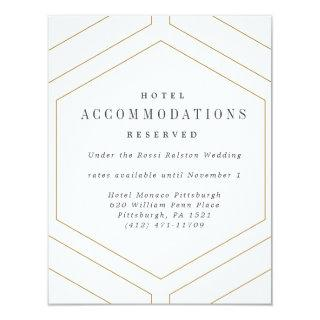Art Deco Geometric Diamond Wedding Details Card