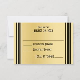 Art Deco Gold and Black Wedding Response
