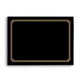 Art Deco Great Gatsby Black A7 Wedding Envelopes