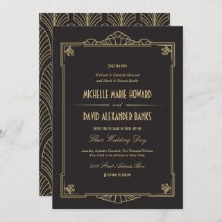 Art Deco Style Wedding Invitations
