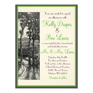 Art Nouveau Trees Sophisticated Wedding Invitations
