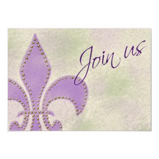 Artsy Mardi Gras Wedding Event New Orleans Invite