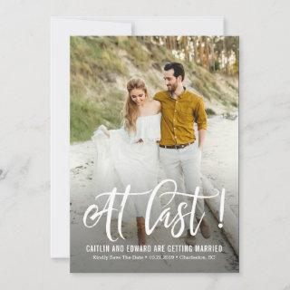 At Last EDITABLE Background Color Save The Date