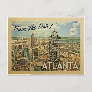 Atlanta Save The Date Georgia Announcement Postcard