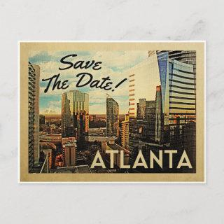 Atlanta Save The Date Vintage Postcards
