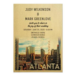 Atlanta Wedding Invitation Vintage Mid-Century