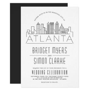 Atlanta Wedding | Stylized Skyline Invitation