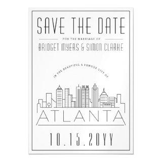 Atlanta Wedding | Stylized Skyline Save the Date Magnetic Invitations