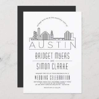 Austin Wedding | Stylized Skyline Invitation