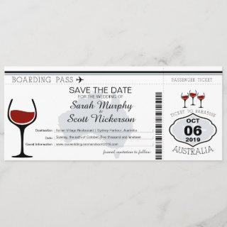Australia Boarding Pass Save the Date