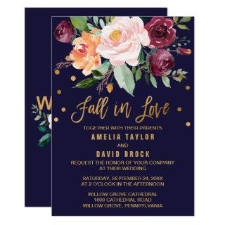 Autumn Floral | Fall In Love Wedding Invitations