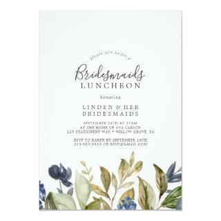 Autumn Greenery Bridesmaids Luncheon Invitation