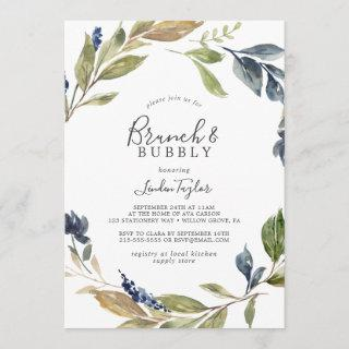 Autumn Greenery Brunch and Bubbly Bridal Shower