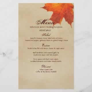 Autumn Orange Fall in Love Leaves Wedding