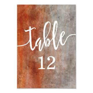 Autumn Orange Watercolor Table Number Seating