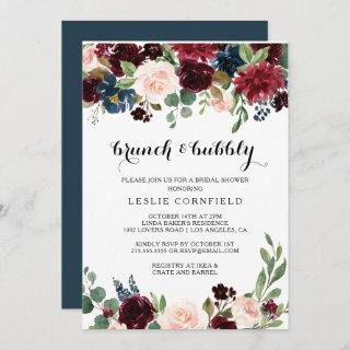 Autumn Rustic Brunch & Bubbly Bridal Shower Invitation