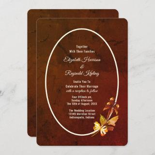 Autumn Splendor Dried Flowers Wedding Invitation