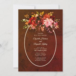 Autumn Splendor Floral Wedding Invitations