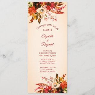 Autumn Splendor Watercolor Floral Aged Ivory Invitation