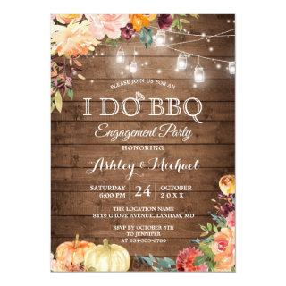 Autumn Themed I DO BBQ Engagement Party Invitations