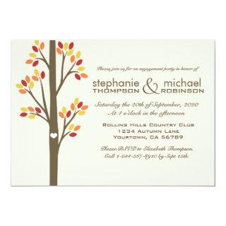 Autumn Trees Engagement Party Invitations