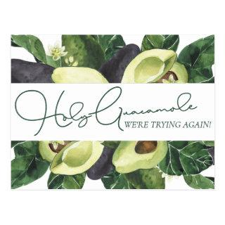 Avocado Blossoms | Punny Rustic Save Our New Date Postcard