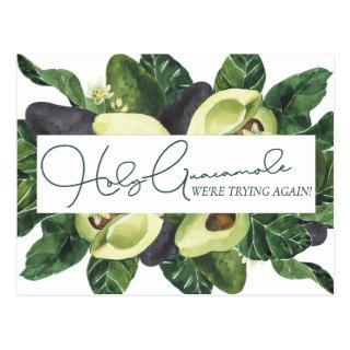 Avocado Blossoms | Punny Rustic Save the New Date Postcard