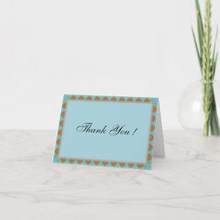 Aztec Wedding Blank Thank You Cards