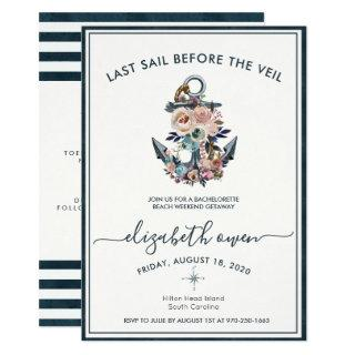 Bachelorette Beach Weekend Bridal Bash Invitations
