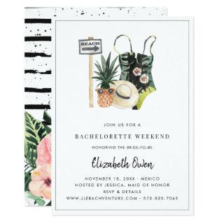 Bachelorette Destination Bikini Bridal Bash Invitations