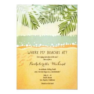 Bachelorette Itinerary weekend Beach Party Invite