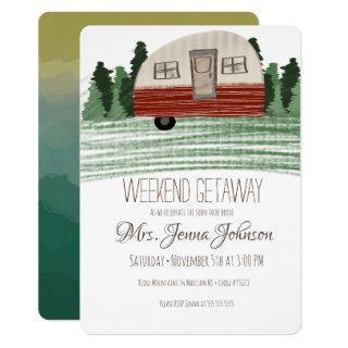 Bachelorette Party Camper Mountain Weekend Invitations