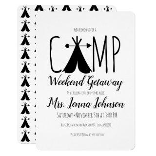 Bachelorette Party Camping Weekend Tent Invitation
