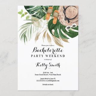 Bachelorette Party Weekend Getaway Itinerary Invitation