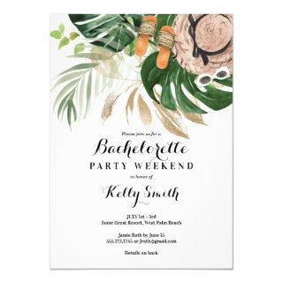 Bachelorette Party Weekend Getaway Itinerary Invitations