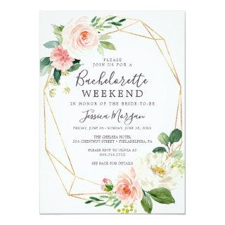 Bachelorette Weekend Invite Itinerary Airy Blush