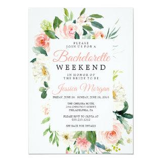 Bachelorette Weekend Itinerary Airy Blush Invitation