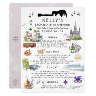 Bachelorette Weekend Itinerary | New Orleans Invitations