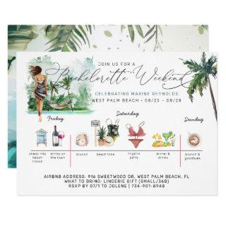 Bachelorette Weekend Itinerary | Palm Beach Invitations