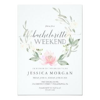 Bachelorette Weekend Itinerary Pastel Blush Invitations