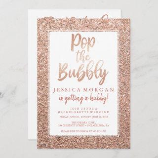 Bachelorette Weekend Itinerary Rose Gold Invitations