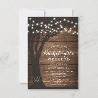 Bachelorette Weekend Itinerary Rustic Country Invi