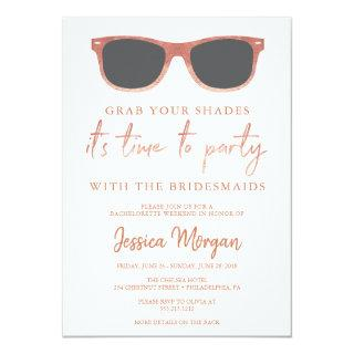 Bachelorette Weekend Itinerary Sunglasses Invitation