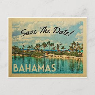 Bahamas Save The Date Vintage Postcards