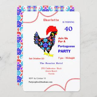 Barcelos Rooster Portuguese Party Theme Invitation