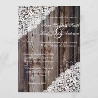 Barn Wood and Lace Rustic Wedding