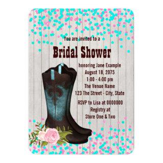 Barn Wood Country Bridal Shower Invitation