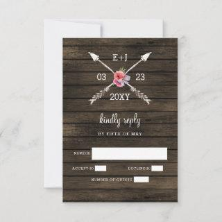 Barn wood country chic wedding Invitations rsvp